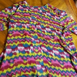 Wrangler long sleeve multi color blouse worn once